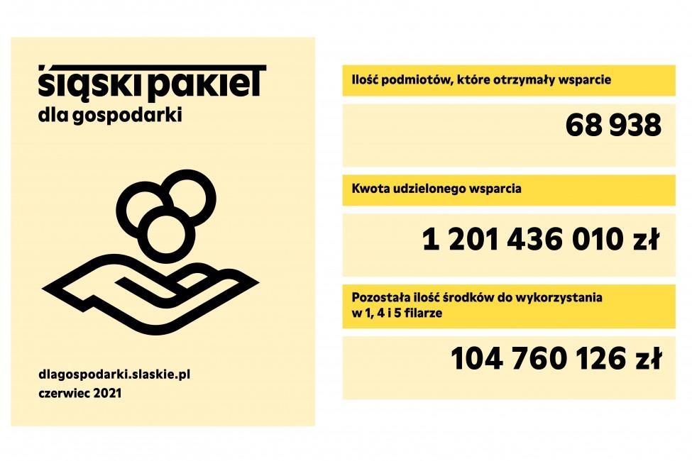 Zdjęcie do wiadomości: Podsumowanie pomocy w ramach Śląskiego Pakietu dla Gospodarki (31 maja 2021 r.)