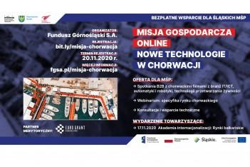 informacja o misji gospodarczej online do Chorwacji