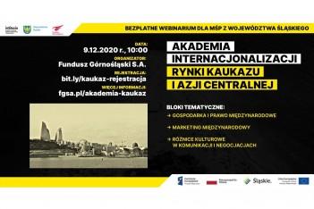 plakat promujący Akademię Internacjonalizacji – Rynki Kaukazu i Azji Centralnej