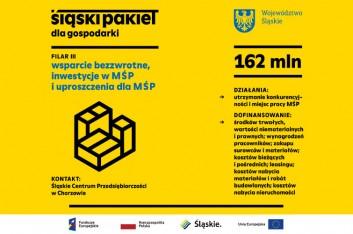 grafika przedstawia podstawowe informacje o III filarze Śląskiego Pakietu dla Gospodarki