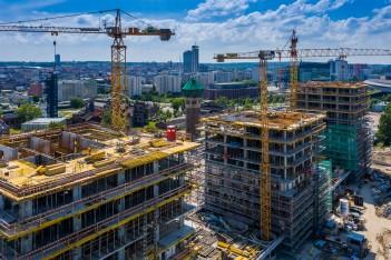 budowa w centrum miasta