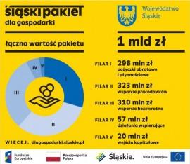 Obraz zawiera informacje nt. Śląskiego Pakietu dla Gospodarki